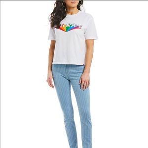 Short Sleeve Tomboy Rainbow Logo Graphic Tee